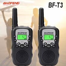 Mini walkie talkie portátil baofeng t3 pçs/set, rádio BF-T3 w, dois canais, interfone, 2 0.5, presente para crianças transmissor bft3