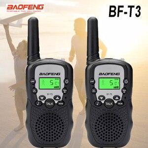2 pcs / set Baofeng T3 BF-T3 Portable mini walkie talkie for kids gift radio 0.5W Two-Way Radio Interphone Transceiver BFT3