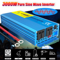 DC 12V To AC 220V 3000W Pure Sine Wave Inverter Solar InverterTransformer Car Inverter Low Noise Frequency Inverter Adapter