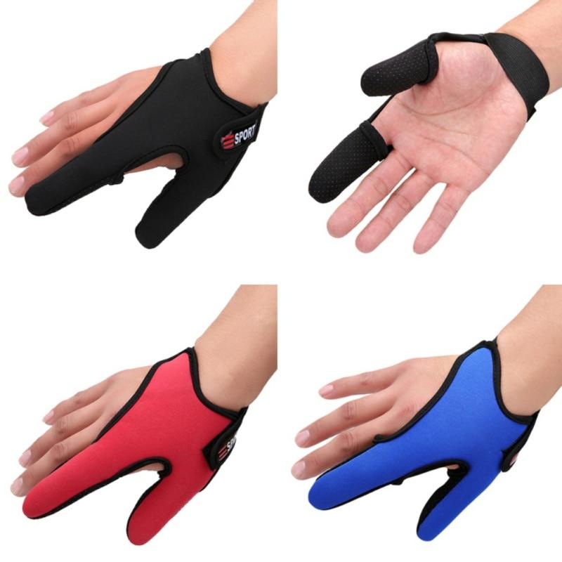 Durable Waterproof Fly Neoprene Fishing Gloves Half Protector Anti-Slip Anti-cut Three Finger Slip Anti Cut Rod Wear HANGUO