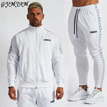 Streetwear Casual Men's Jacket + Trousers Formal Wear 2020 Fashion Jogger Outdoor Suit