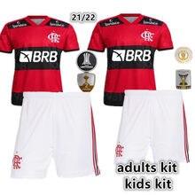 Novo kit de crianças + kit adulto casa 21 22 flamengos camisa matheuzinho pedro de arrascaeta diego gabi b. henrique e. ribeiro criança camisa