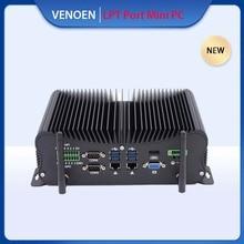 GPIO Port Factory Mini PC Intel Core i7 7600U 4500U i5 7267U Rs232 485 COM Series Port Industrial Computer Linux Wifi AC BT4.2