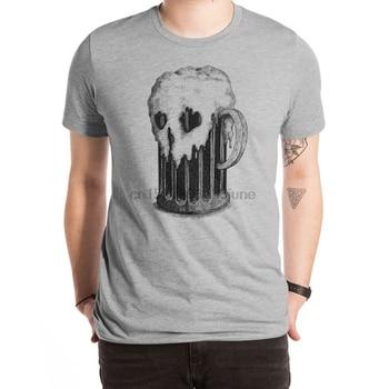 Ciemny Lager T Shirt alkohol alkohol alkohol czaszki kości szkielety jedzenie załoga bluza raglans halloween Horror
