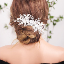 Hair-Accessories Leaf-Hair-Comb Rhinestones Wedding-Silver with Crystal for Women New-Arrival