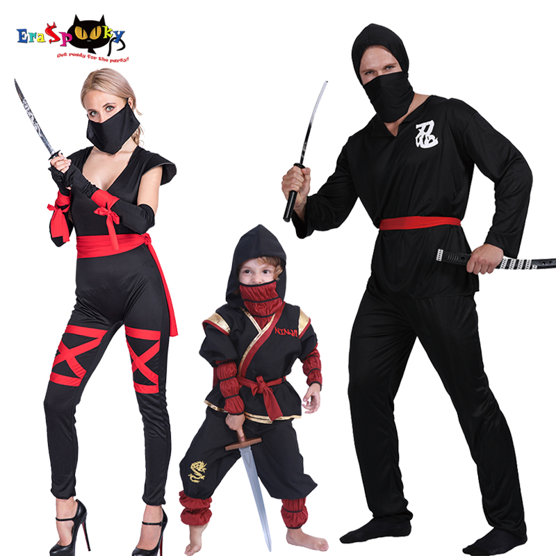 Family Ninja Halloween Costumes.Eraspooky Japanese Ninja Cosplay Kids Halloween Costume Adult Family Matching Clothes Purim Party Group Fancy Dress Movie Tv Costumes Aliexpress