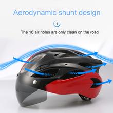 Nowy rower kask kask ochronny wiatroszczelne soczewki integralnie formowany kask oddychający kask kask rowerowy czapka sportowa tanie tanio TiOODRE 300g Całą twarz Unisex ABS + PC