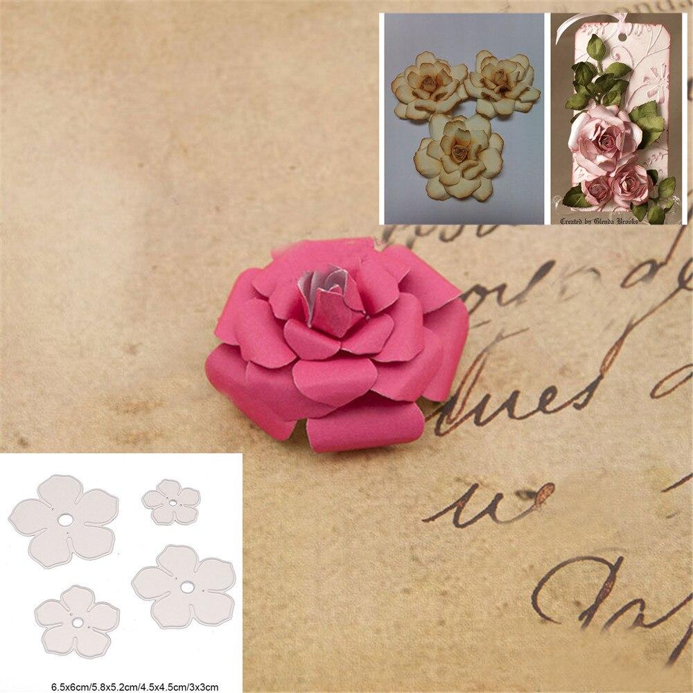 Flower Metal Cutting Dies Stencil Scrapbooking Embossing Album Paper DIY