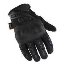 Новые тактические перчатки, мужские перчатки, защитная оболочка, кожаные перчатки на весь палец, военная одежда