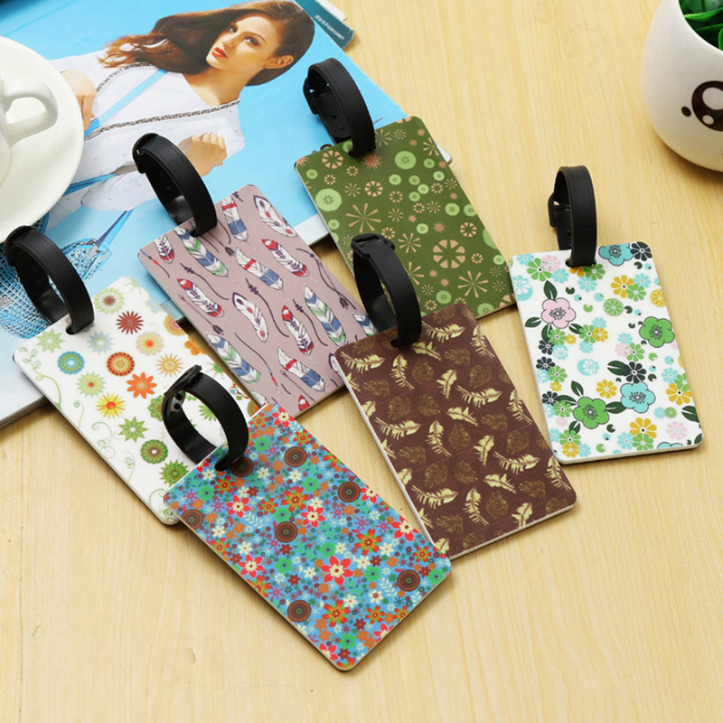 Label Luggage-Tag Flower Travel-Accessories Silica-Gel Address-Holder Feather-Suitcase