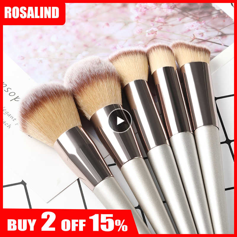 ROSALIND Makeup Brushes Foundation For Professional Makeup Full Set High Quality Brushes Eye Shadow Lip Powder Sponge Makeup Too