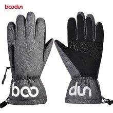 Men Women Winter Touchscreen Ski Gloves Seperated Fingers Windproof Waterproof Warm Thermal Fleece Outdoor Skiing Snowbard Glove