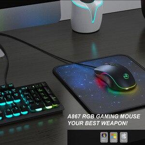 Image 4 - Souris de jeu filaire 7200DPI programme macro définition souris de joueur de qualité professionnelle souris filaire rvb optique pour ordinateur portable