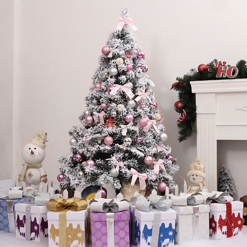 Christmas White Combo Cedar 1.51.82.12. 4 M 3 M Snow Flocked Christmas Tree Model Decoration