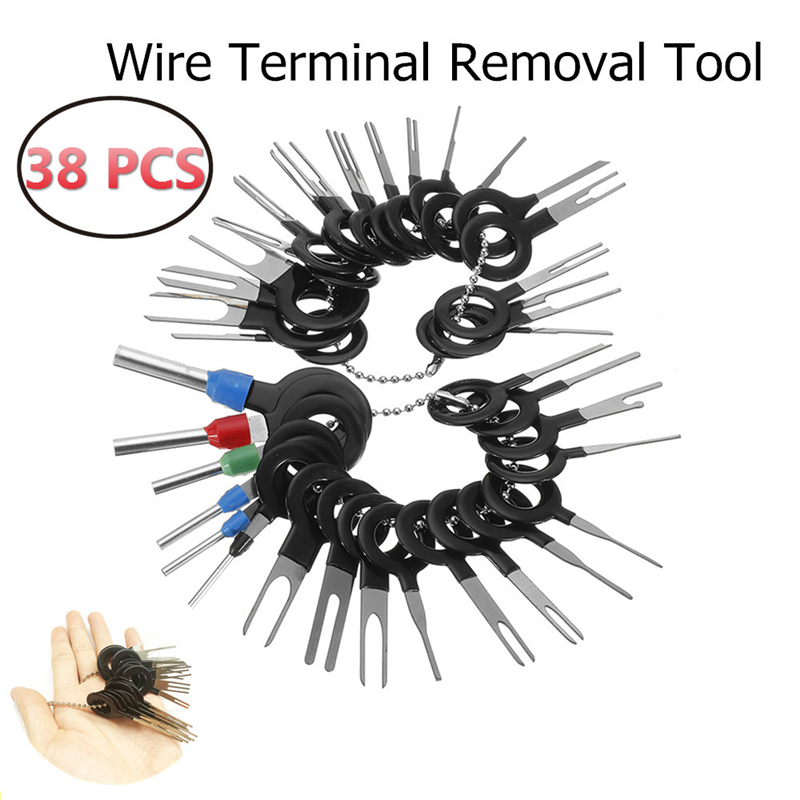 38Pcs 2019 New Car Terminal Removal Electrical Wiring Crimp Connector Pin Extractor Kit Automobiles Terminal Repair Hand Tools