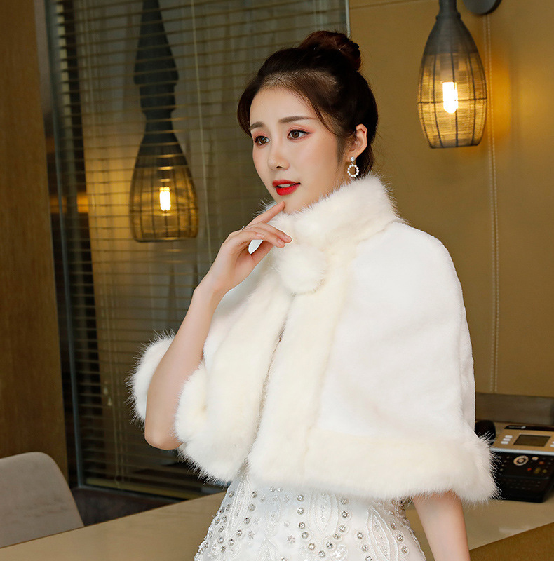 2020 Sale Cape Mariage The New 2020 Cape Shawl Wedding Dress Accessories In Winter To Keep Warm Cloak Female Shawls And Lovely