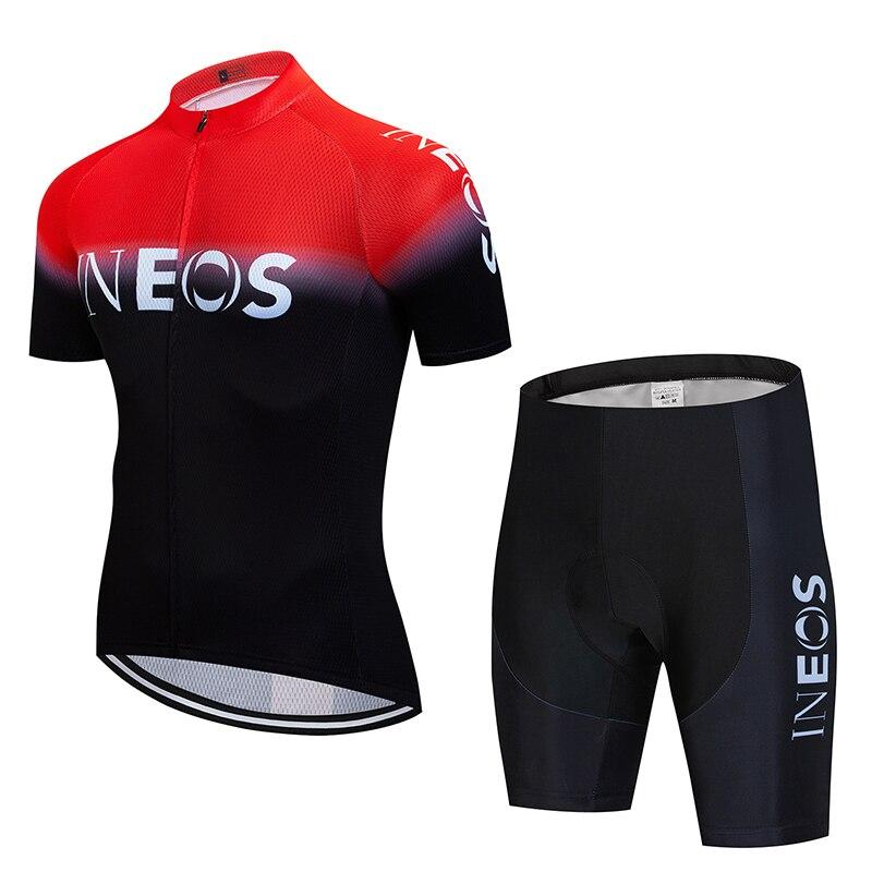 2020 Ineos Zomer Fietsen Team Jersey 19D Bike Shorts Pak Kleding Fiets Heren Zomer Sneldrogende Broek Kleding-in Wielersport setjes van sport & Entertainment op title=