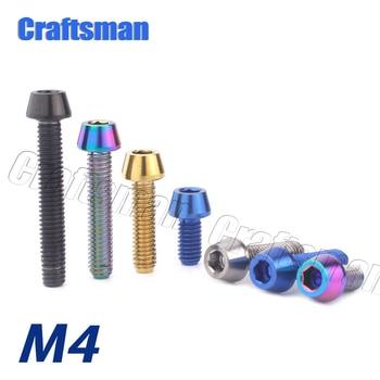 Tornillo de titanio M4 x 8, 15, 20 y 25mm, cabeza cónica...