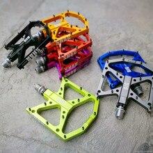 Ultraleve pé plano pedais da bicicleta de montanha mtb cnc liga de alumínio selado 3 rolamento antiderrapante pedais de bicicleta peças