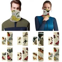 Scarf Headwear Gaiter-Tube Neck Butterfly-Pattern Fashion Bike Warm Outdoor Unisex Polyester