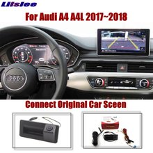 Liislee For Audi A4 A4L 2017~2018 Original Car Screen Upgrade Reversing Image Dynamic Trajectory Rear View Camera Trunk Handle