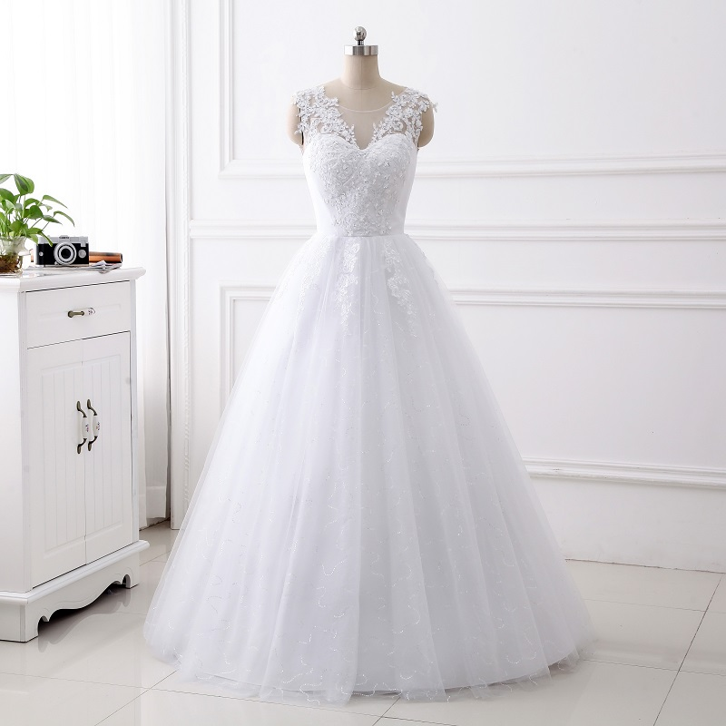 Women's V Neck Luxury Lace Applique Mermaid Wedding Dresses Elegance Wedding Gown
