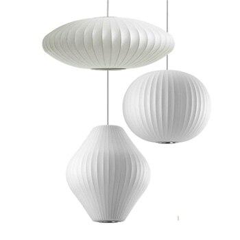 Nordic Silk Pendant Light Staircase Danish Dining Hall Bar Clothing Shop Pendant Lamp Lantern Lampshade Restaurant Tatami Lustre