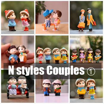 BAIUFOR Lovers Couple Miniature Mini Doll DIY Terrarium Figurines Fairy Garden Decor Valentine's Day Gift Home Accessories 1