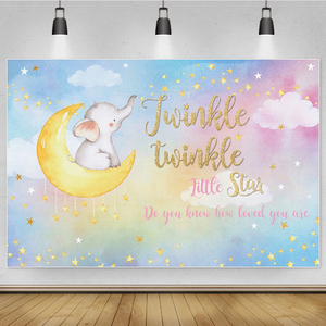 Image 2 - Laeacco Happy Birthday Party Decor Poster Unicorn Photo Backdrop Golden Polka Dots Stars Customized Photography Background