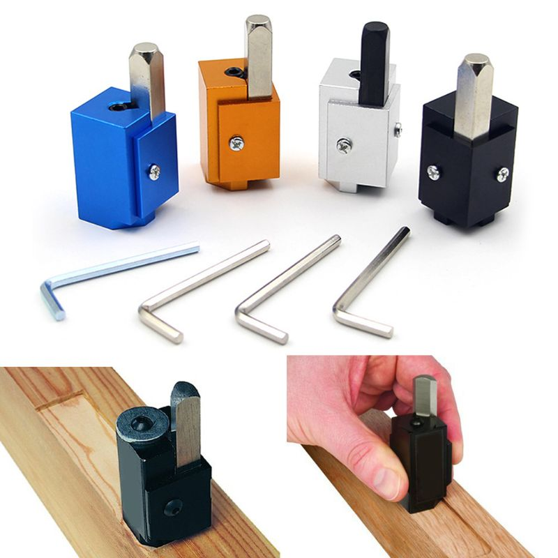 Aluminum Allloy Corner Chisel Square Hinge Recesses Mortising Right Angle Knife Wood Carving Chisel For Woodworking Tools in Chisel from Tools
