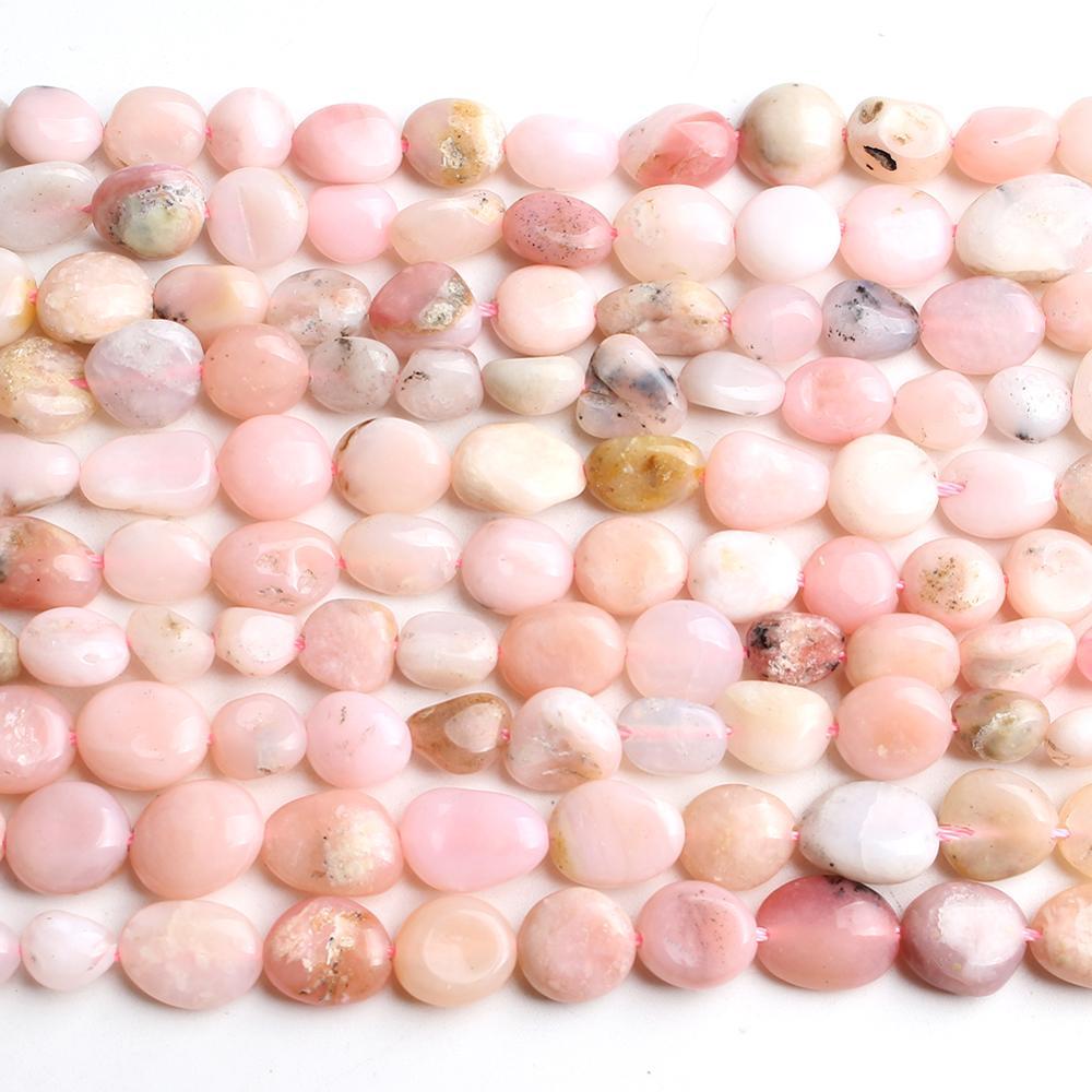 Нестандартные бусины из натурального розового опала, 6-8 мм, незакрепленные бусины для аксессуаров, ювелирных изделий, браслетов, нитка 15 дюй...