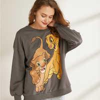 the lion king women clothing sweatshirt streetwear print spring 2019 fashion o neck long sleeve oversize pullover sweatshirts