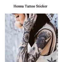 1PC Permanent Makeup Supply  Henna Tattoo Stickers Temporary Waterproof Juice Tattoo Sticker Stencils Body Art Tools 1