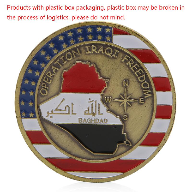 Saint George Baghdad Operation Iraqi Freedom Commemorative Challenge Coins Gift Y4UB
