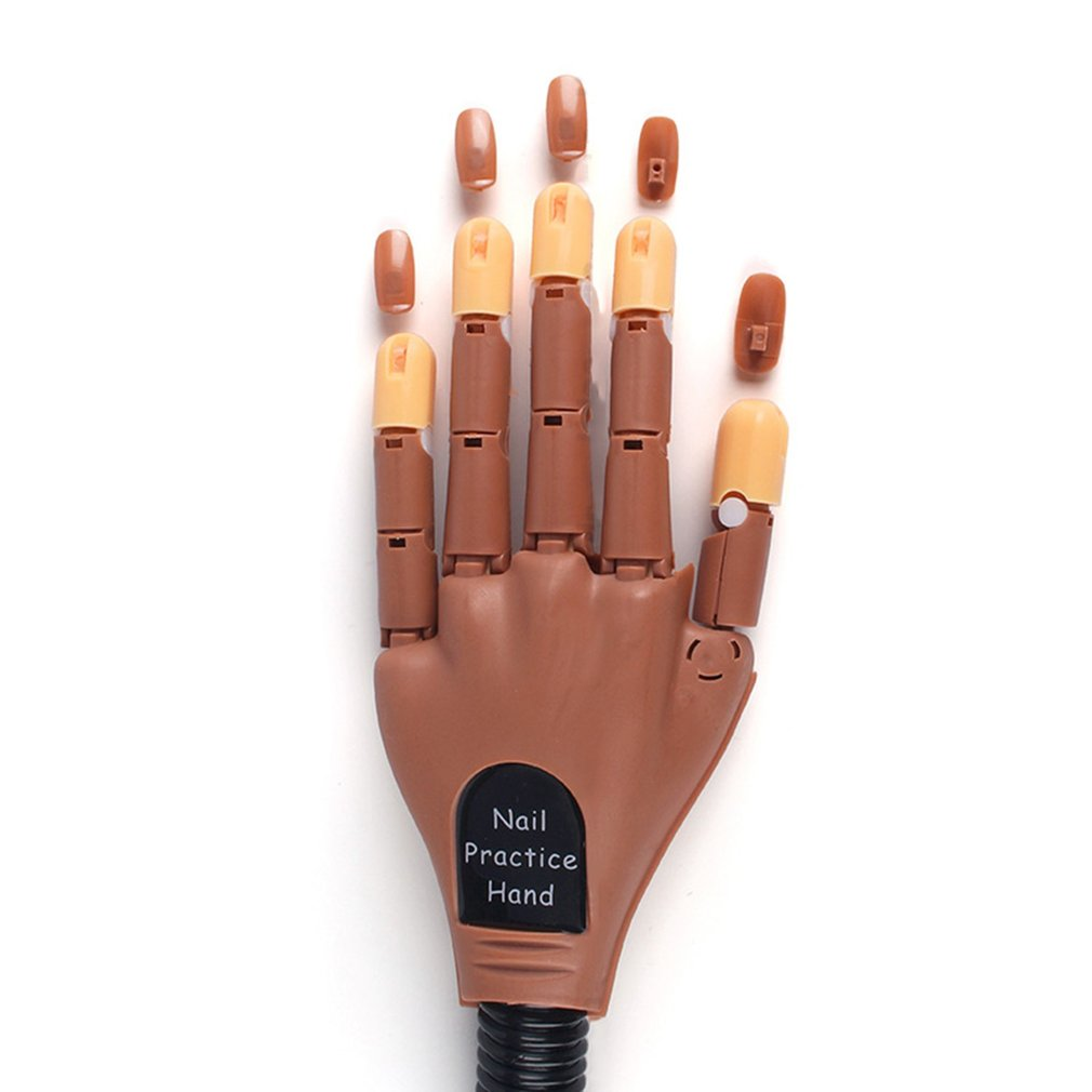 Professional Nail Practice Model Fake Hand Nail Tool Nail Practice Prosthetic Bendable Movable Joint