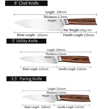 Japanese Chef Knives Set Professional Kitchen Knife Germany 1.4116 High Carbon Steel Vegetable Utility Knife for Cooking 6
