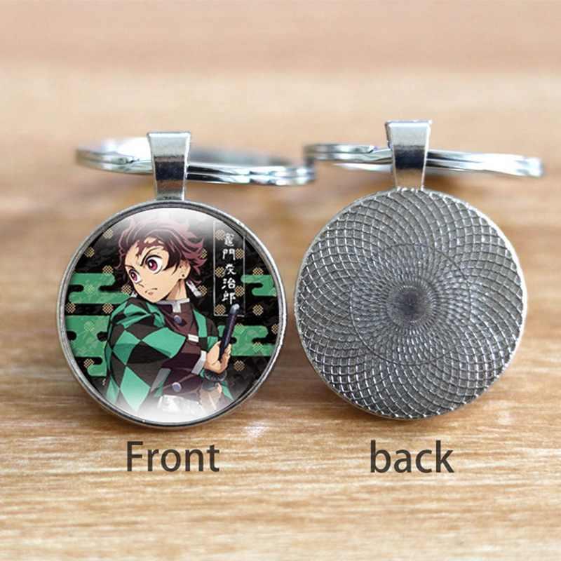 Moda dos desenhos animados anime chaveiro cúpula de vidro tempo definido na broca pingente chaveiro anel quadro senhoras menina presente jóias acessórios