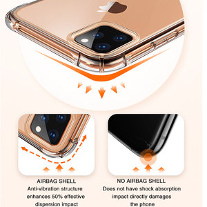 Image 3 - Transparent Protection Case For iPhone 11 Pro X XS Max Four Corner Strengthen Silicon Clear Cover For iPhone 11 pro max 7 8 Plus