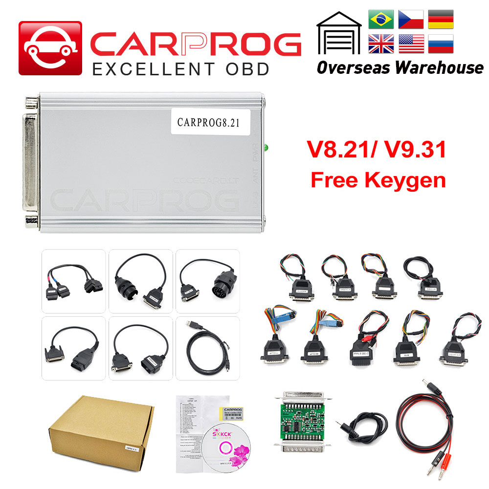 Ecu-Chip Prog Auto-Ecu-Programmer Tunning Car Firmware 21-Adapters Online V8.21  title=
