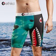 Tight-Shorts Underwear Boxers Ethika Sport Mens Print Man Long Gay Sexy Breathable