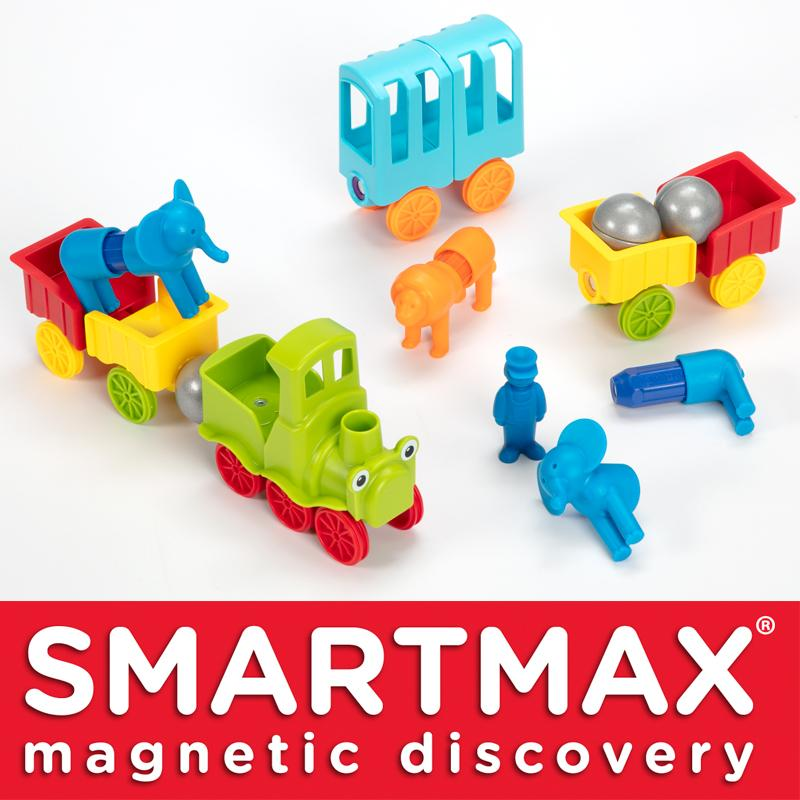 SmartMax Magnetic Discovery My First Animal Train Develop Logical Thinking Suitable Age 18 Month +