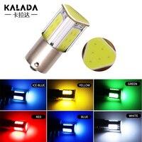 1 Uds COB LED solo dos póngase en contacto con 1157 bay15d p21/5w intermitente Led para coche lámpara 1156 ba15s p21w lámpara de freno automática de 12v rojo diodo verde
