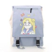 Cute Backpack Sailor-Moon Women School-Bag Student-Bag College-Book Female Girl Trendy