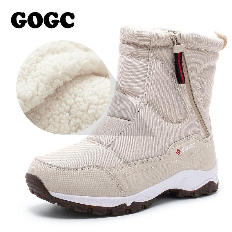 GOGC botas de Invierno para mujer botas de nieve botas de mujer botas de Invierno para mujer zapatos de invierno botas de tobillo G9906