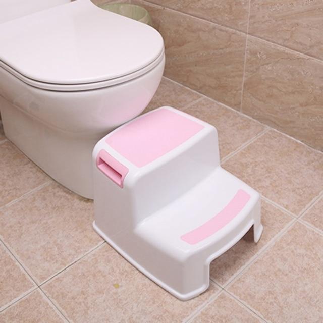2 tamborete da etapa para crianças crianças, tamborete da criança com aperto macio resistente do deslizamento para a segurança como tamborete do treinamento do potty do toalete do banheiro