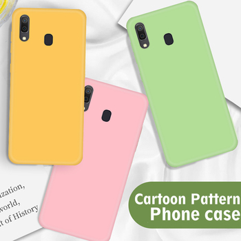 Plain Color Silicone Case For Samsung A20 A 20 A70 A50 A40 A30 A10 A60 M40 M30 M10 M20 Case Candy Color Cute TPU Shell 20A Case image