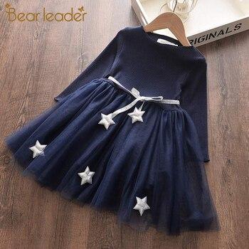 Bear Leader Casual Girl Princess Dress Elegant Long Sleeve Autumn Kid Mesh Children Clothing Kids Clothes Party Dresses