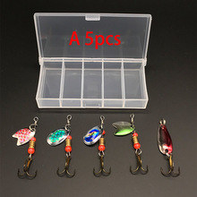 Fishing Lures Sequin Spoon Wobbers Baits Hand Spinner Crank baits Fly Tackle With Hooks
