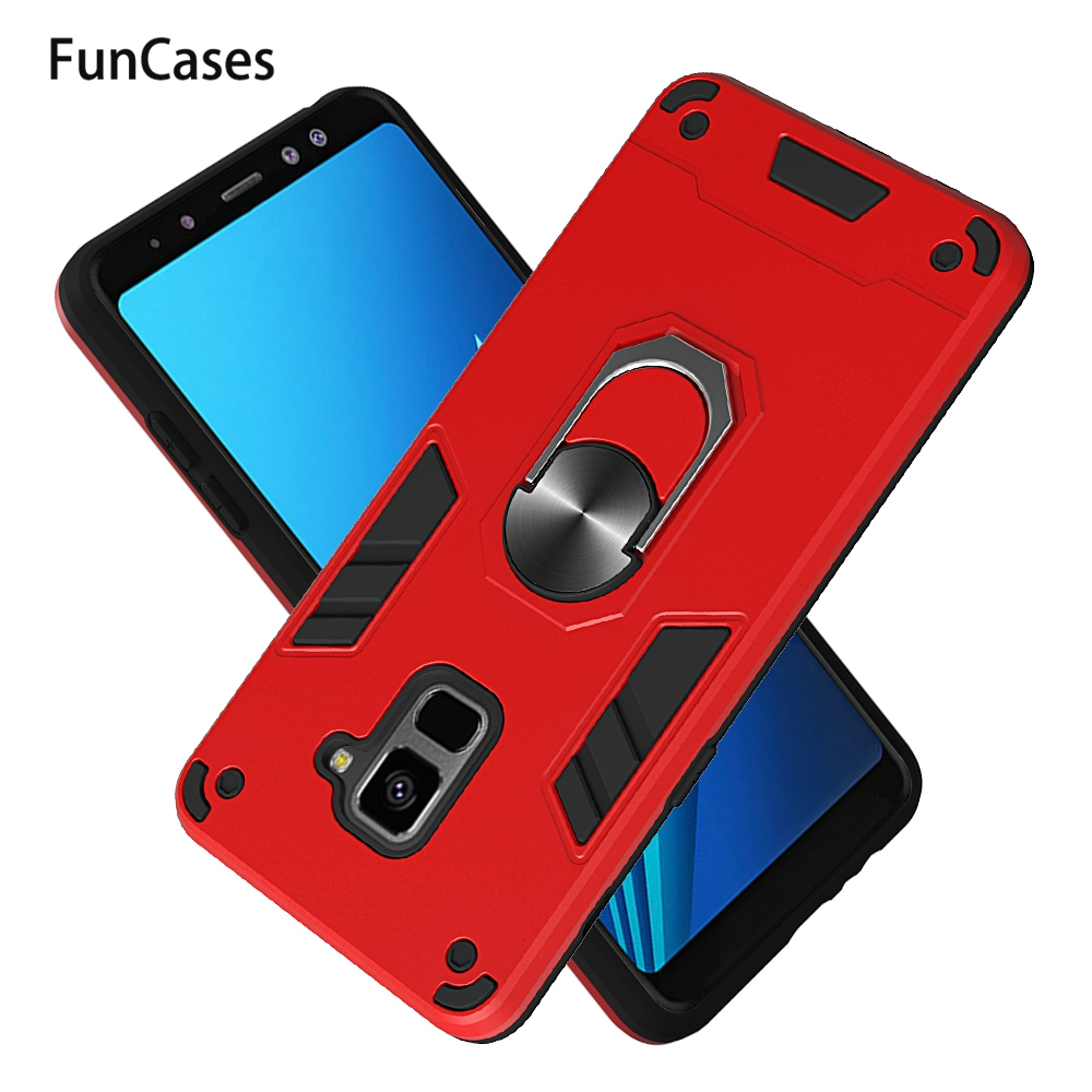 Car Ring Holder Cover For <font><b>Samsung</b></font> <font><b>A6</b></font> Plus 2018 <font><b>Samsung</b></font> Galaxy A9 Star Lite J8 2018 Lite A8 Plus J8 A2 Core Positivo <font><b>Phone</b></font> <font><b>Cases</b></font> image