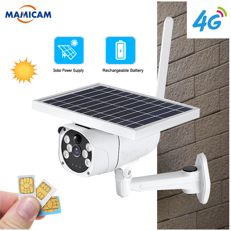 1080P 4G SIM Card IP Camera Rechargeable <font><b>Battery</b></font> Outdoor IP67 PIR Detect Dual Light Wireless Camera WiFi 6W Solaer Panel image